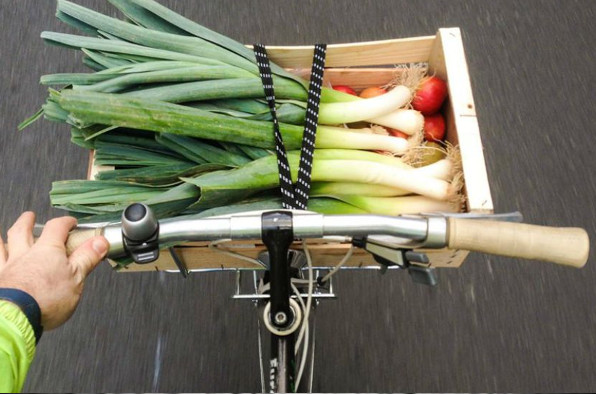 Cagette courses à vélo